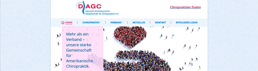 DAGC Website Chiropraktik Relaunch