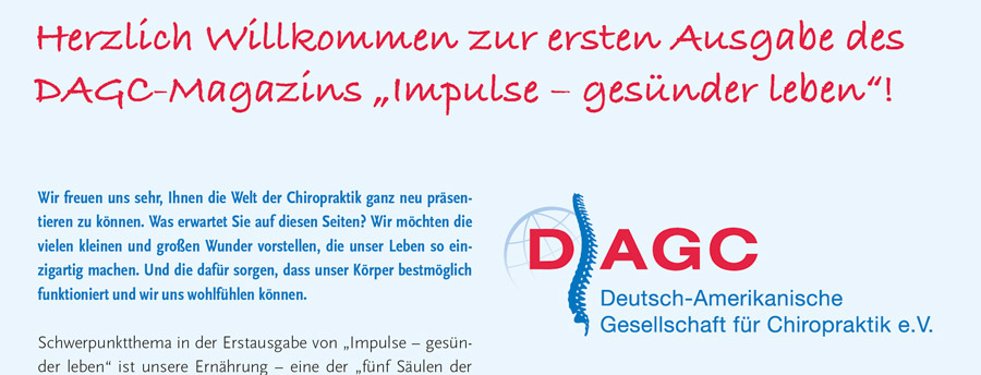 DAGC Magazin Erstausgabe impulse Magazin 2015